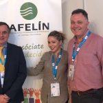 Eduardo Corredor Grupo Parisien Hygienalia Pulire visitando el stand de AFELIN