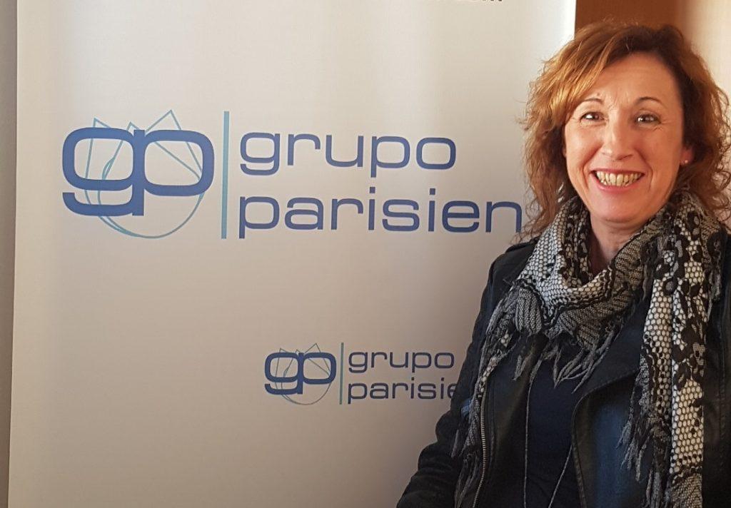 Elvira Gascón en la entrevista para el blog de Grupo Parisien