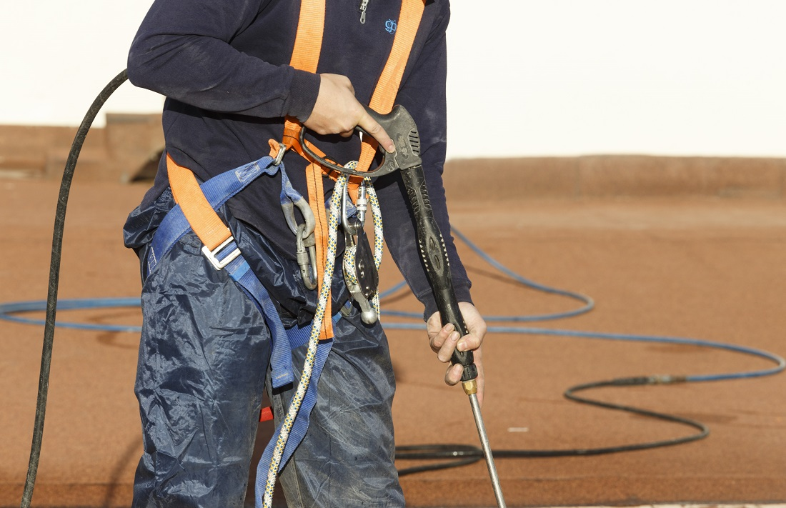 Trabajador de Grupo Parisien, servicios de limpieza profesional